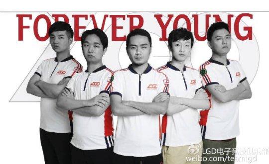 Команда LGD Forever Young Dota 2
