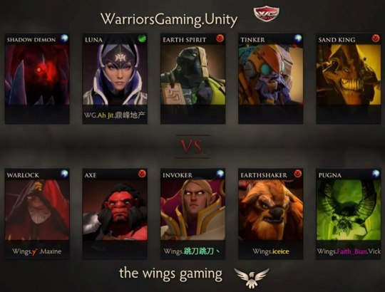 Wings и WG Unity выбрали героев