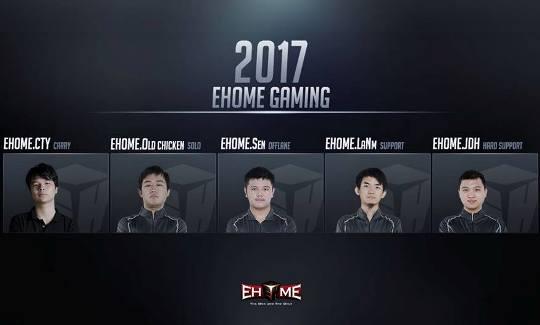 Какой состав у EHOME Dota 2