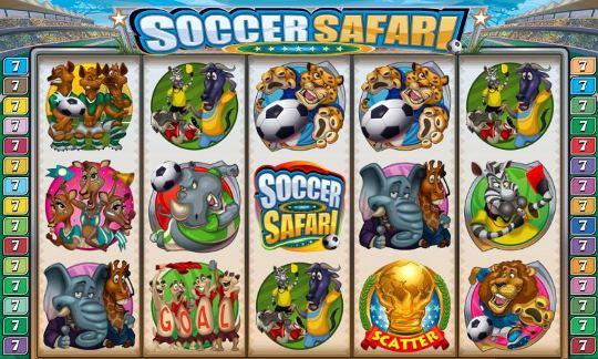 Скриншот барабанов Soccer Safari.