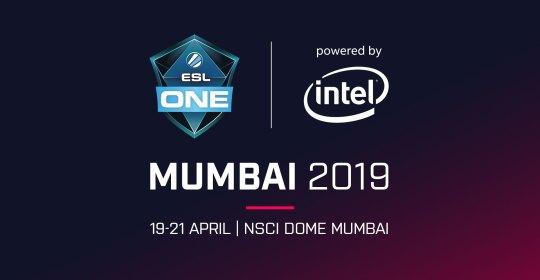 На картинке заставка турнира ESL One Mumbai 2019