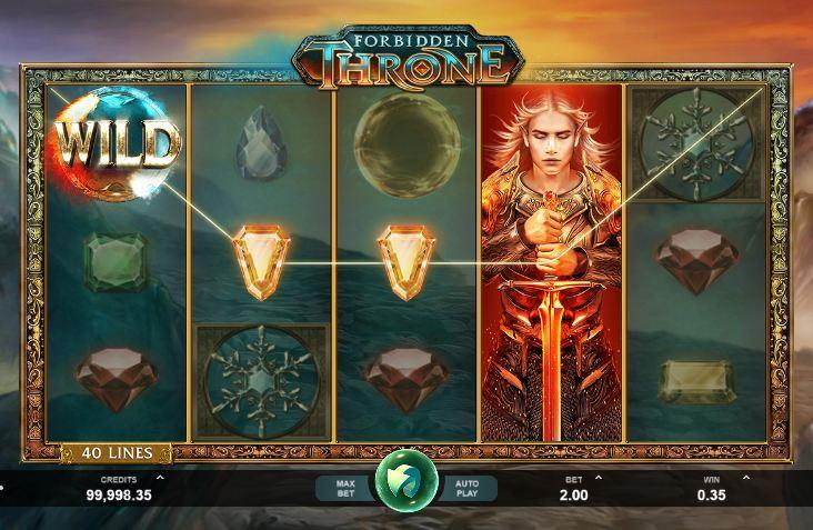На скриншоте видно появление рыцаря в игровом автомате.