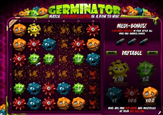 Скриншот игрового автомата Germinator.