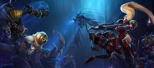 """Скриншот из игры Heroes of the Storm - карта """"Затерянный грот""""."""