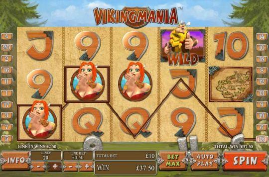 На фото скриншот игры Викинг Мания.