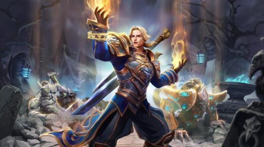 Скриншот с новым героем из игры Heroes of the Storm - Anduin.