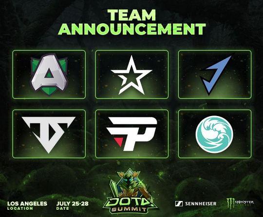 Команды приглашенные на The Summit 10