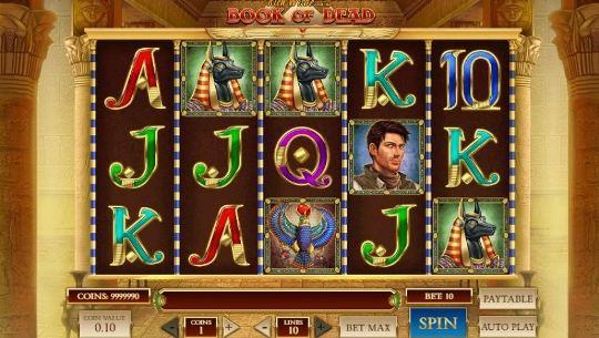 Book of Dead на vostok casino